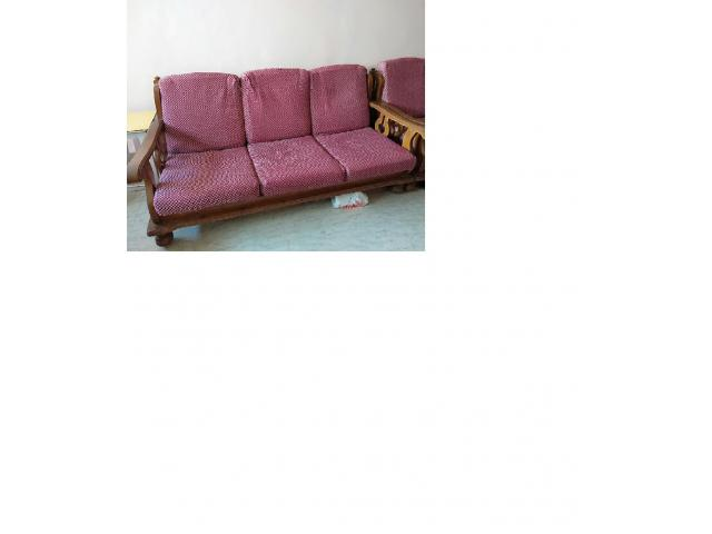 Outstanding Teak Wood 3 Seater Sofa Set Mumbai Buy Sell Used Download Free Architecture Designs Scobabritishbridgeorg