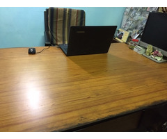 1 Executive Table 5'x3'; 2 Office Tables 3.5'x2'; 1 Executive Chair; 1 Office Chair and 1 Cabinet