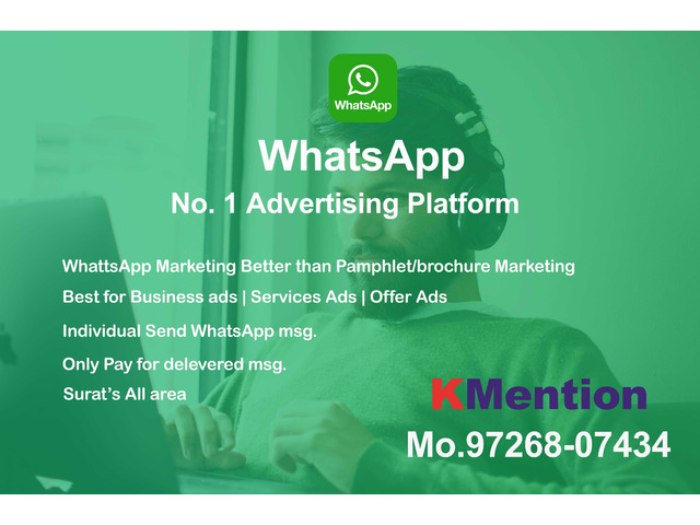 WhatsApp Marketing-Pamphlet Marketing in Surat By KMention - 1/1