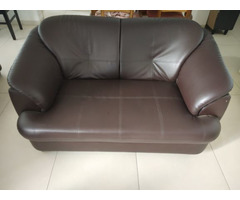 Premium Plymouth Sofa in brown leatherette - 1 yr old - 3+2 formation