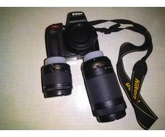 Nikon D3400 Digital Camera Kit (Black) with Lens AF -P DX Nikkor 18-55mm, 70-300mm f/4.5-6.3G ED VR