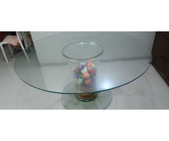 D'Boro Round Glass Dinning Table 6 Seater