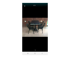 Cast iron table and chairs