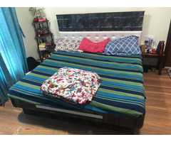 King Size Bed Bed 6x6. WITH BED MATTRESS (with storage