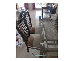 Glass Dining table set - Image 3/6