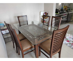 Glass Dining table set - Image 6/6
