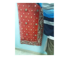 Red Bridal Lehnga with Designer Dupatta on reasonable price