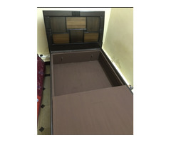 Cot and Mattress for urgent sale with closed racks