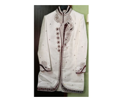 Marriage sherwani suits man Slim Fit - Used Only Once, Size-42