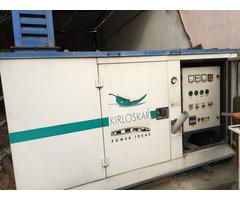 Kirloskar Green 30 kva 3-phase power silent generator, in all good condition.