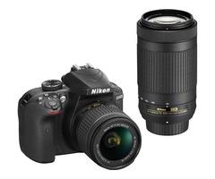 Nikon D3400 with Nikkor lens