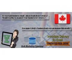 Bulk Email marketing Database Canada