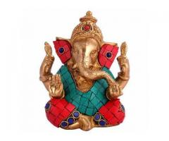 HandCarved Lord Ganesh Sculpture