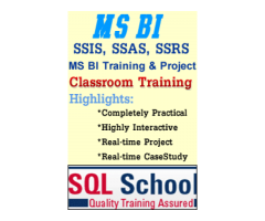 Best practical classroom Training on SQL BI (SSIS, SSAS, SSRS) at SQL School