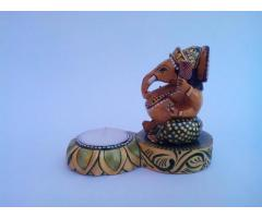 Wooden Ambaari Elephant Showpiece