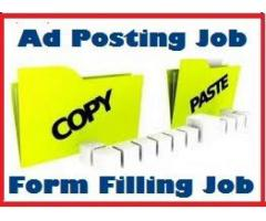 Ad-posting Form Filling Data Entry Job - All over India