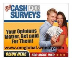 Earn Cash for Survey Job – Get paid for share your Opinion