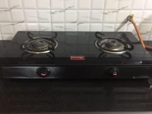 Prestige 2 Burner Stainless Steel with Glasstop Manual Gas Stove