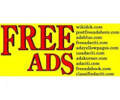 Post Free ads - Publish your ads for free