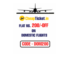 Flat Rs. 200 Off on Domestic Flights Bookings.