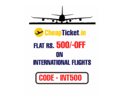 Flat Rs. 500 Off on International Flights Bookings.
