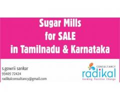 Sugar Mills for SALE in Tamilnadu & Karnataka