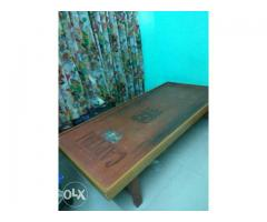 Teakwood Diwan for sale with Mattress