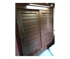 wooden 2 door sliding cupboard