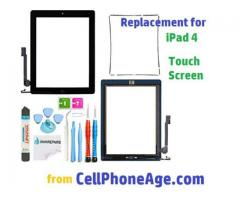 Online Seller of iPad 4 touch screen digitizer