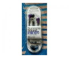 new seal pack skullcandy supereme sound ink'd  earphones