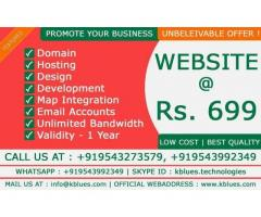 KBLUES TECHNOLOGIES Website at 699/ validity-1yr (salem)
