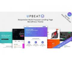 Upbeat Responsive Multi-Purpose Landing Page WordPress Theme by zozothemes