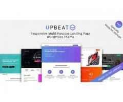 Upbeat Responsive Multi-Purpose Landing Page WordPress Theme by zozothemes
