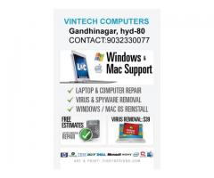 Laptop desktop service repairing any software problems solutions, Khairtabad,9032330077