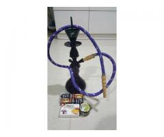 MYA Hookah Hukkah Hukka with Flavors and Charcoal Free