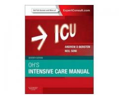 Oh's critical care medicine book current edition (7th) 1 month old