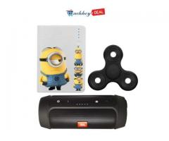 Buy 10400 mAh Minions power bank and JBL Speaker and get a Black Noise free Fidget spinner free!!