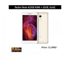 Bye Online Redmi Note 4(3GB RAM + 32GB, Black) | Placewell Retail