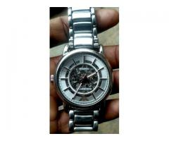 Armani transparent watch