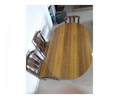Dining table with 4 chair (Teak wood )