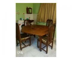 Diagonal shaped side foldable dining table