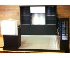 Elegant looking commercial kiosk for sale.