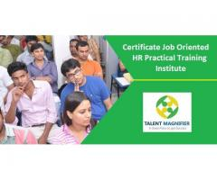 Certificate Job Oriented HR Practical Training Institute - Delhi NCR