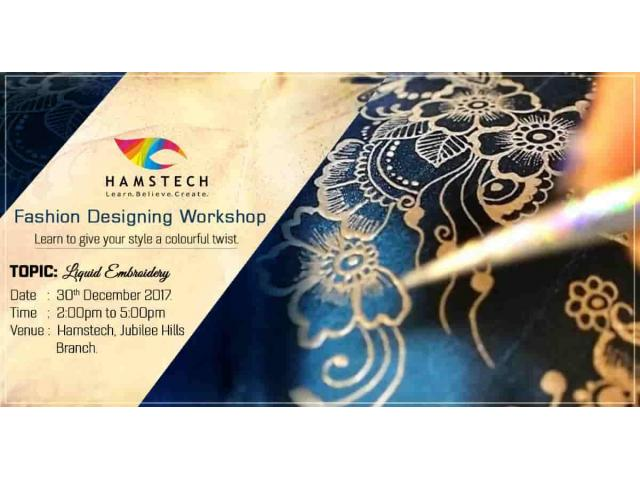 Learn Unique way of Embroidery at Free Workshop by Hamstech
