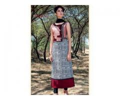 Taffeta Silk Digital Printed Kurti @ Just Rs.1283/-