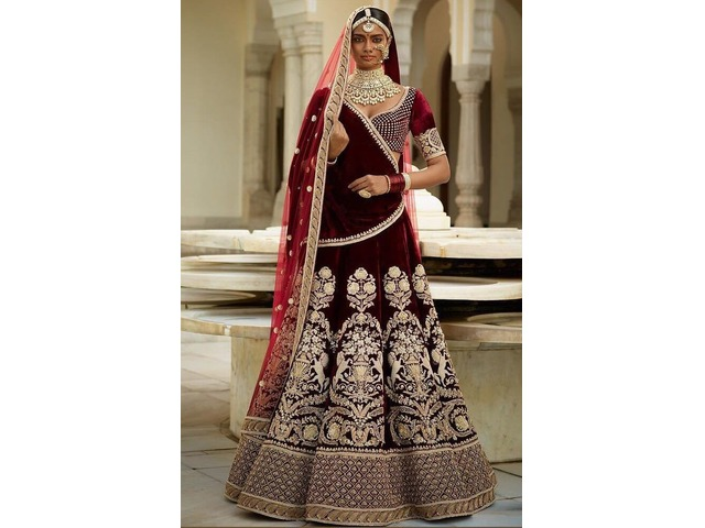 Buy the Latest Bridal lehengas  @vadhucreations.com - 1/4