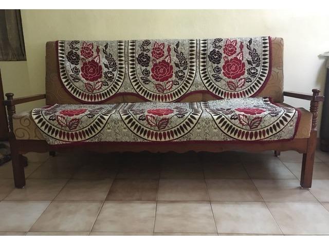 Cool Teak Wood Sofa 3 1 1 Beutiful Home Inspiration Aditmahrainfo