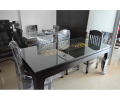 Pure Sagwan Dining Table with the Modern look - Image 1/2